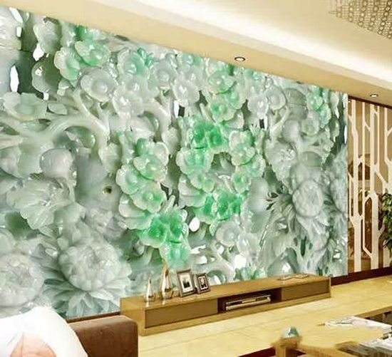 Jade art craved in bas-relief.