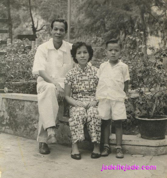 With my father and mother, when I was young ...