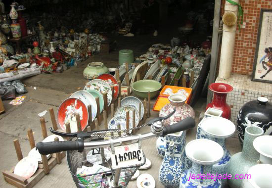 An Antique shop in China.