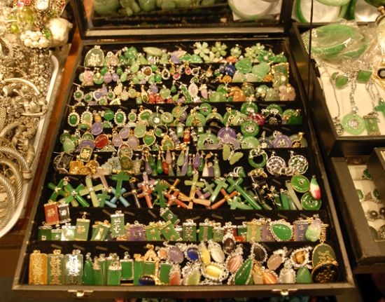 HK$10 a piece at the Jade market ...